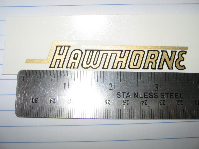 Hawthorne tank decals Black with Gold outline