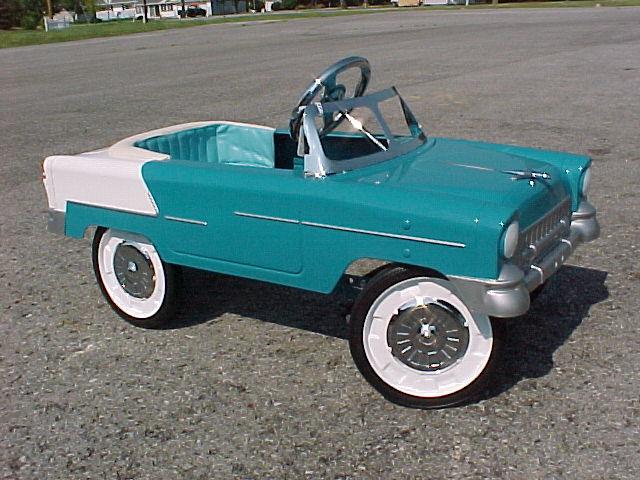 1955 Chevy Bell Air Pedal Car Blue